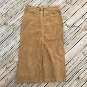 VINTAGE 90s Rare Zara Corduroy Skirt